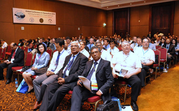 Participants at the Global Conference on Aquaculture 2020, Phuket, Thailand.